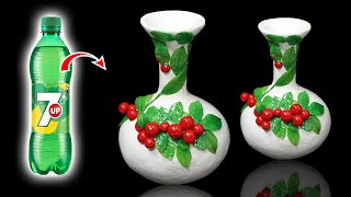 Awesome Fruit style flower vase with plastic bottle   Home decoration