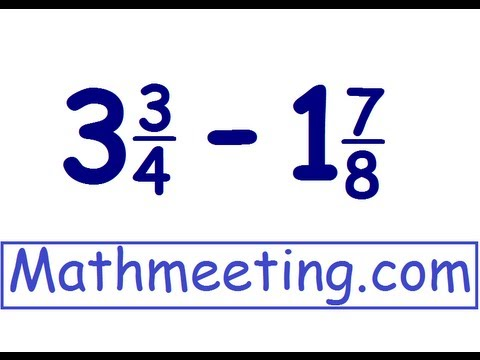 (4.NF.3.A)Subtracting mixed numbers