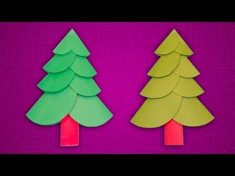 Paper Christmas Craft Ideas   How to Make a Christmas Tree With Color Paper   DIY Xmas Decor