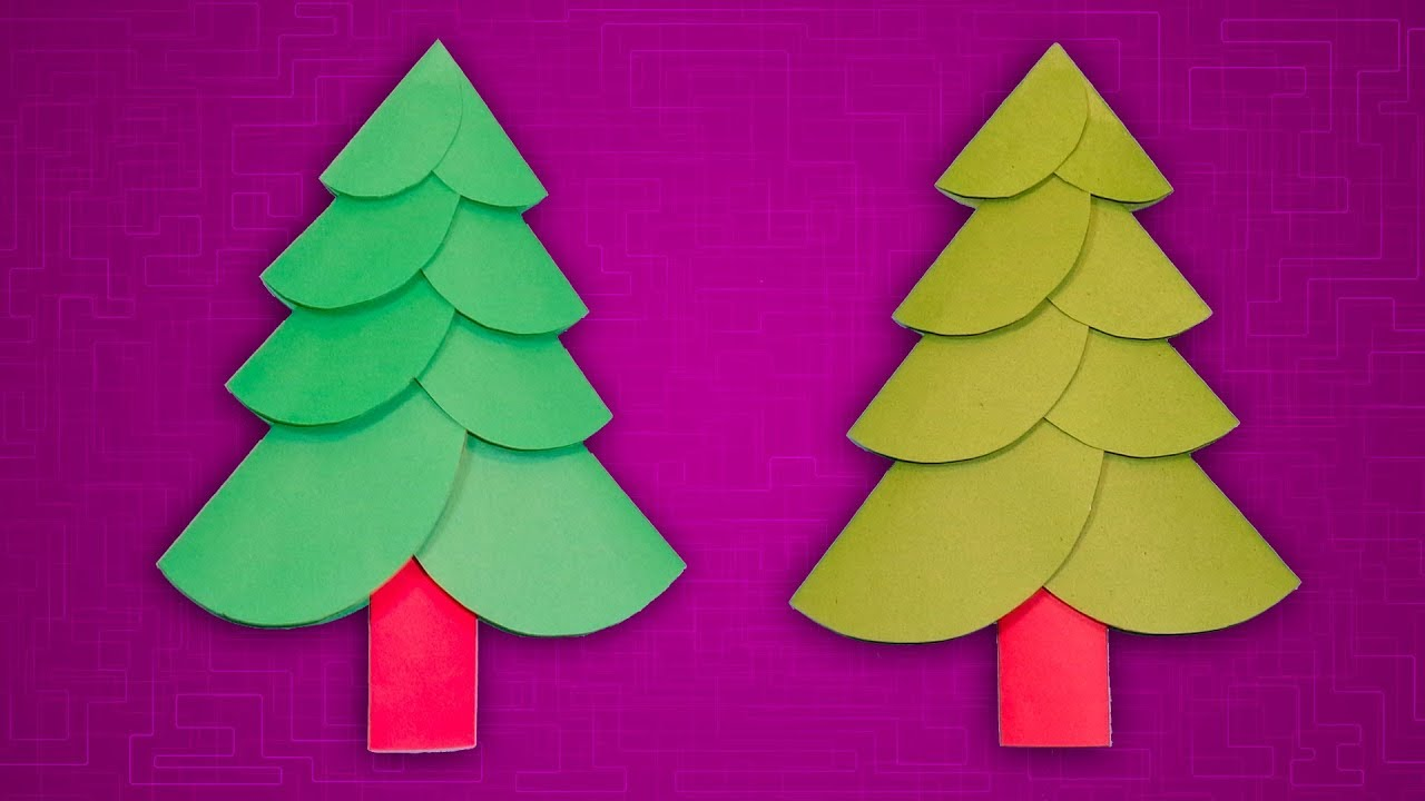 Paper Christmas Craft Ideas How To Make A Christmas Tree With Color