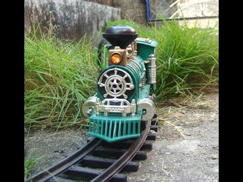 TOY TRAIN VIDEO FOR CHILDREN - TOY TRAIN CONTROLLED BY LITTLE CONTROLLER IN MY GARDEN