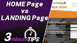 Home Page vs Landing Page - What's the Difference?