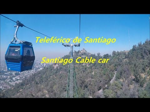 Cable car at San Cristobal hill in Santiago, Chile
