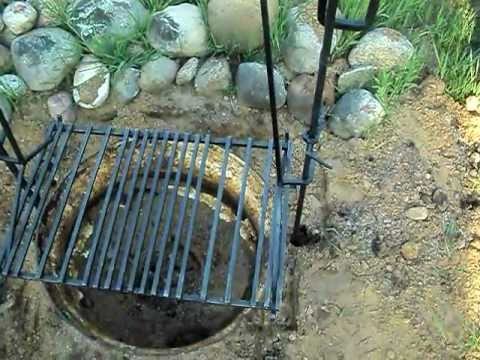 Adjustable Camp Fire Grill For Cooking Over Open