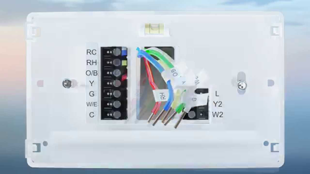 Emerson Sensi Thermostat Wiring Diagram Schematics Diagrams Five Wire Wifi Installation Overview Youtube Rh Com Smart
