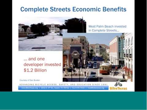 Are Complete Streets Good for the Public Health of Texas?