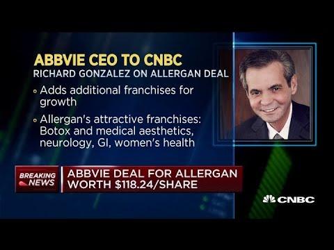 AbbVie CEO Richard Gonzalez on the purchase of Allergan