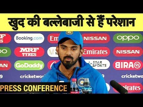 KL Rahul ने टीम इंडिया के ज्यादा Dot Balls खेलने की बताई वजह | IND vs WI | #CWC19