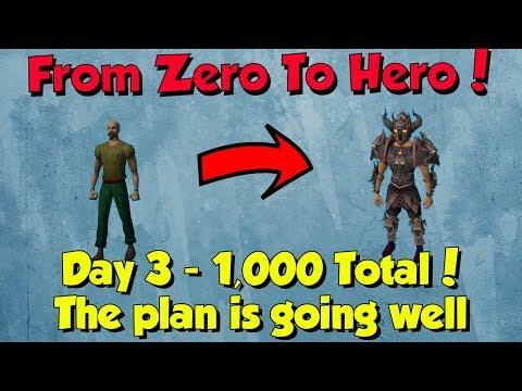 From Zero to Hero - 1,000 Total! [Runescape] Week 1, Episode 3