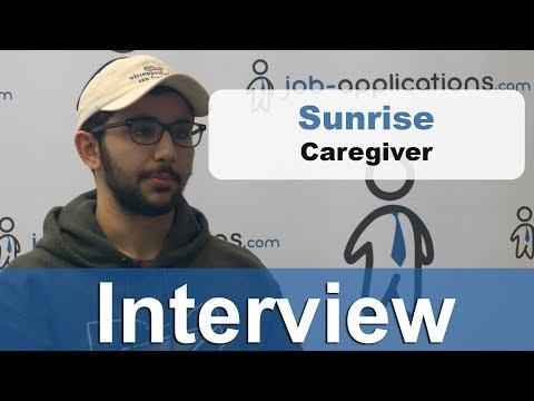 Sunrise Senior Living Interview - Caregiver