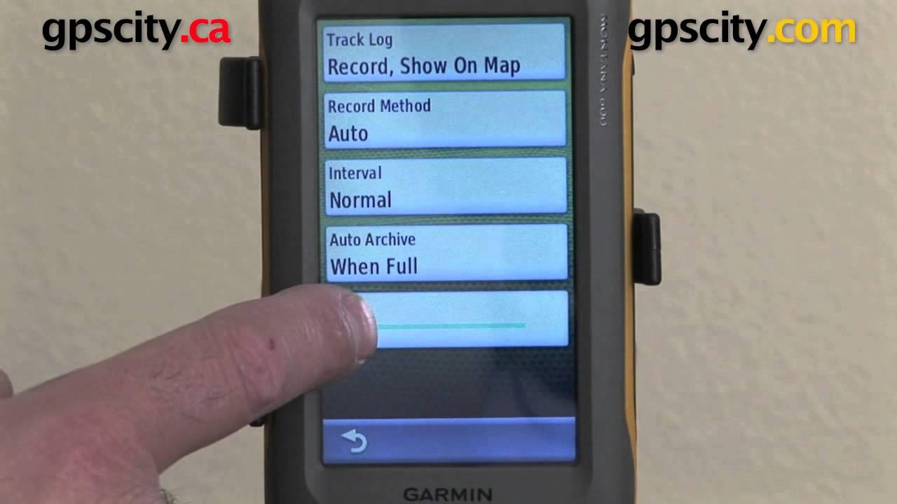 Delete tracks from the map - Garmin Montana 600