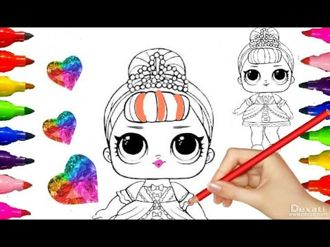 LOL SUPRISE DOLL Big Sisters| Series 1 Fancy| Coloring pages for Girls| Kids Fun Art w/ GLITTERS ART