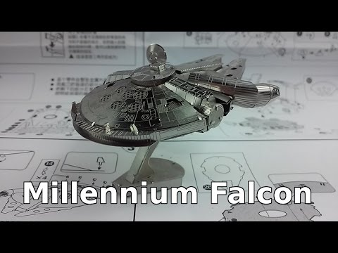 Millennium Falcon build - 3D Metal Puzzle (Metal Earth Clone)