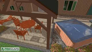 Patio with Pavilion and Hot Tub