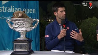 Novak Djokovic Australian Open Final 2016 - Interview after Match Win