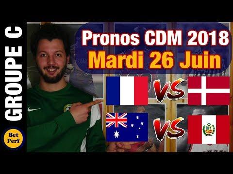 PRONOS Groupe C Mardi 26 Juin, Coupe Du Monde 2018 : France Danemark Et Australie Pérou !