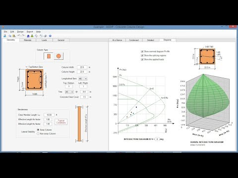 Concrete Column, Beam & Wall Design Software - ASDIP CONCRETE