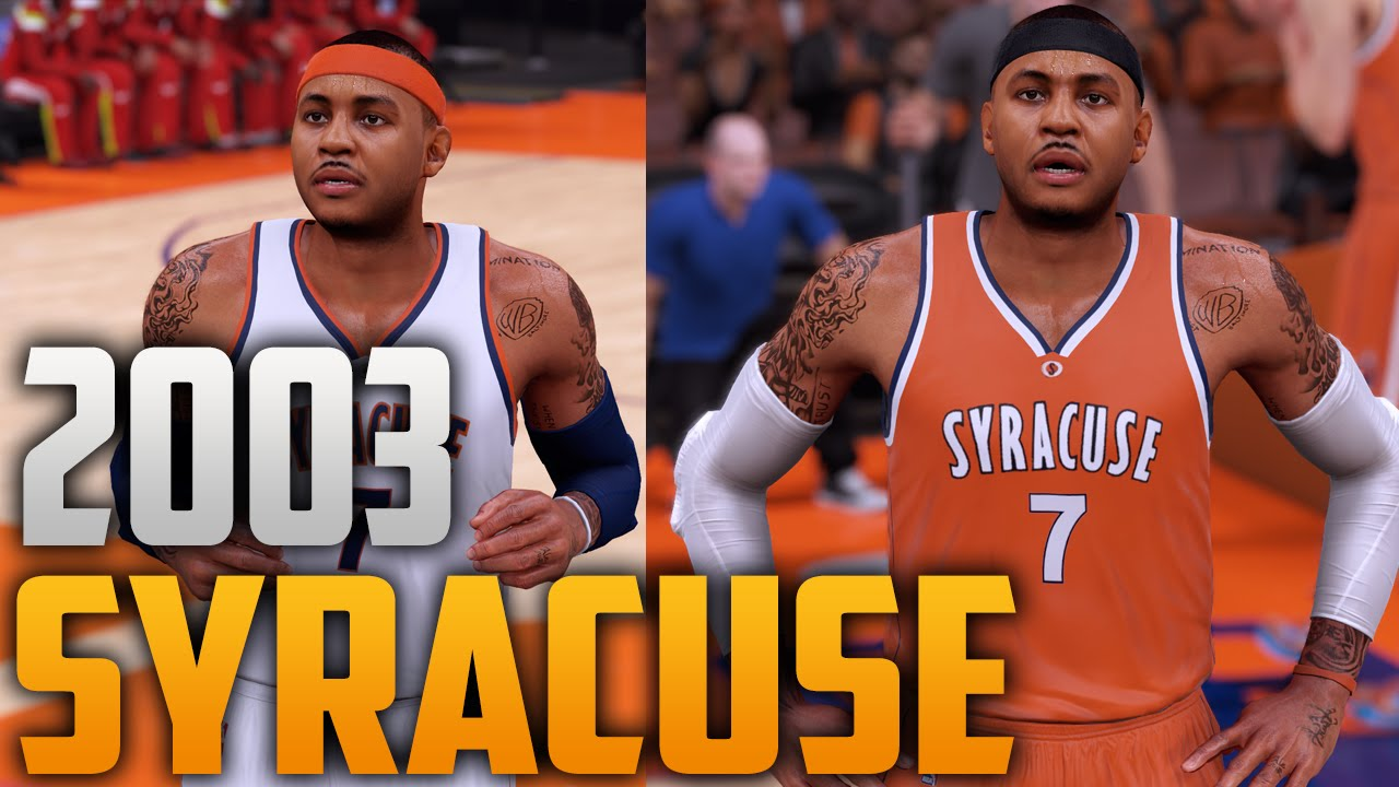 NBA 2K16 2003 Syracuse Orange Jersey   Court Tutorial - YouTube 4eb043304