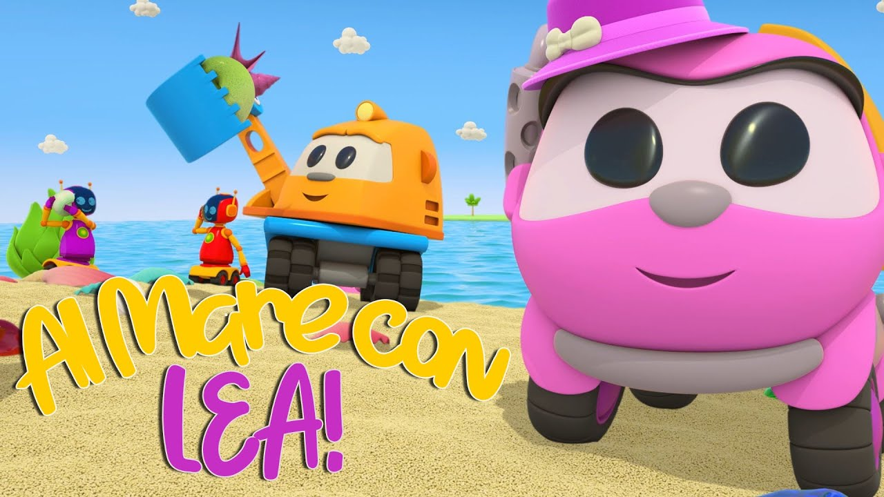 Lea la Camioncina Creativa va al Mare! Leo e Lea Camioncini   Compilation Estate cartoni Animati