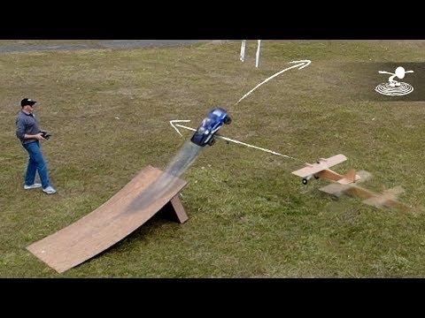 AIRPLANE CAR JUMP STUNT!