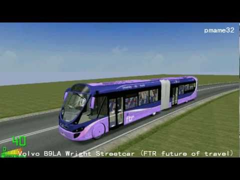mm2  352 Volvo B7LA Wright Streetcar FTR future of travel in Polish Road City  YouTube