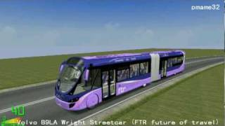 mm2 遊車河 352 volvo b7la wright streetcar ftr future of travel in polish road city
