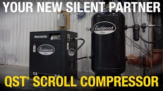 Meet Your New Silent Partner - ELITE QST™ 80/120 SCROLL AIR COMPRESSOR: Quiet. Powerful. Affordable!