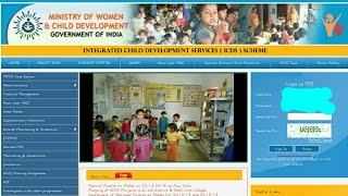 How to upload anganwadi monthly report
