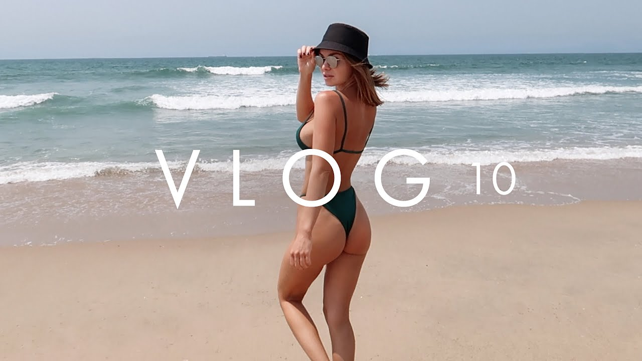 VLOG 10 | BEACH DAY AND SURFING IN CALIFORNIA | CARAWAY COOKWARE REVIEW | ANNA CASEY