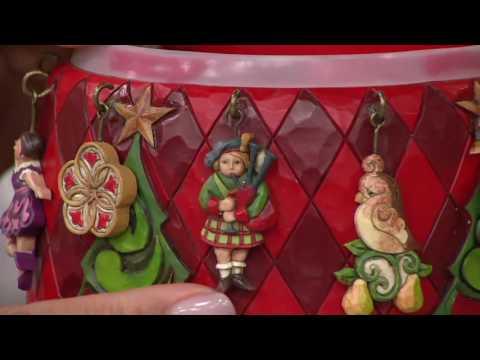 Jim Shore Hanging 12 Days of Christmas Santa Figurine on QVC