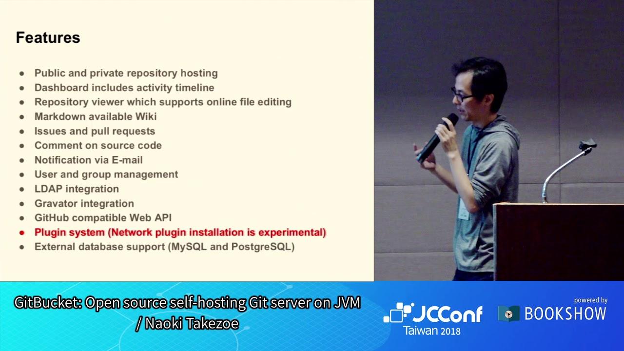 JCConf 2018 R2-4 / GitBucket: Open source self-hosting Git server on JVM /  Naoki Takezoe