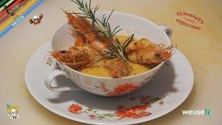 158 - Crema di ceci e gamberi gratinati...lascerai tutti estasiati! (piatto facile gustoso elegante)