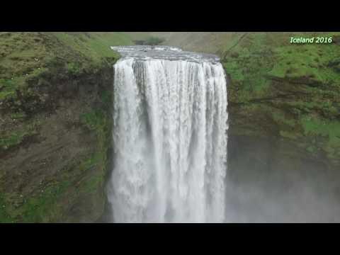 Iceland - Skogar - Skogafoss waterfall, Drone - Phantom 3 Pro, 2016
