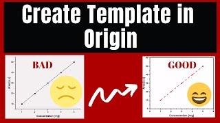 How to Create a Template in Origin | TUTORIAL