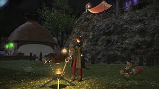 [FINAL FANTASY XIV x Monster Hunter] Free Company Outdoor Furnish BBQ Pit