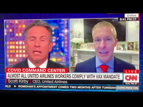 United Airlines Reports 99 % Of Employees Got Vaccinated CEO Scott Kirby Says Vax Mandate Works