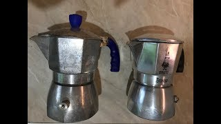 Test Bialetti Brikka 2 cup (new and old)