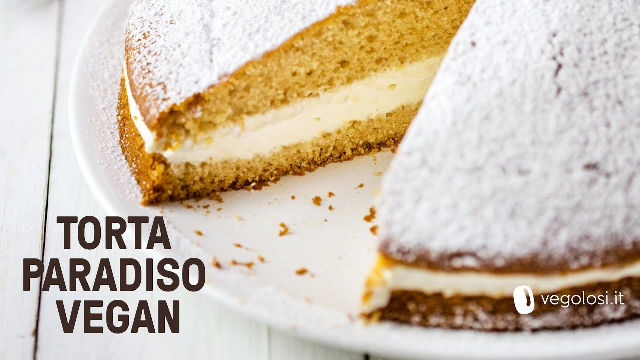 Ricetta Torta Kinder Paradiso Vegan.Torta Paradiso Vegana Youtube