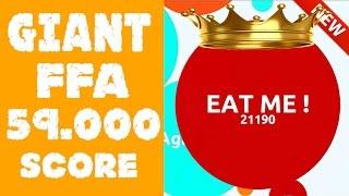 Agar.io Giant FFA Mode Gameplay ★★★ 59.000 Score ★★★