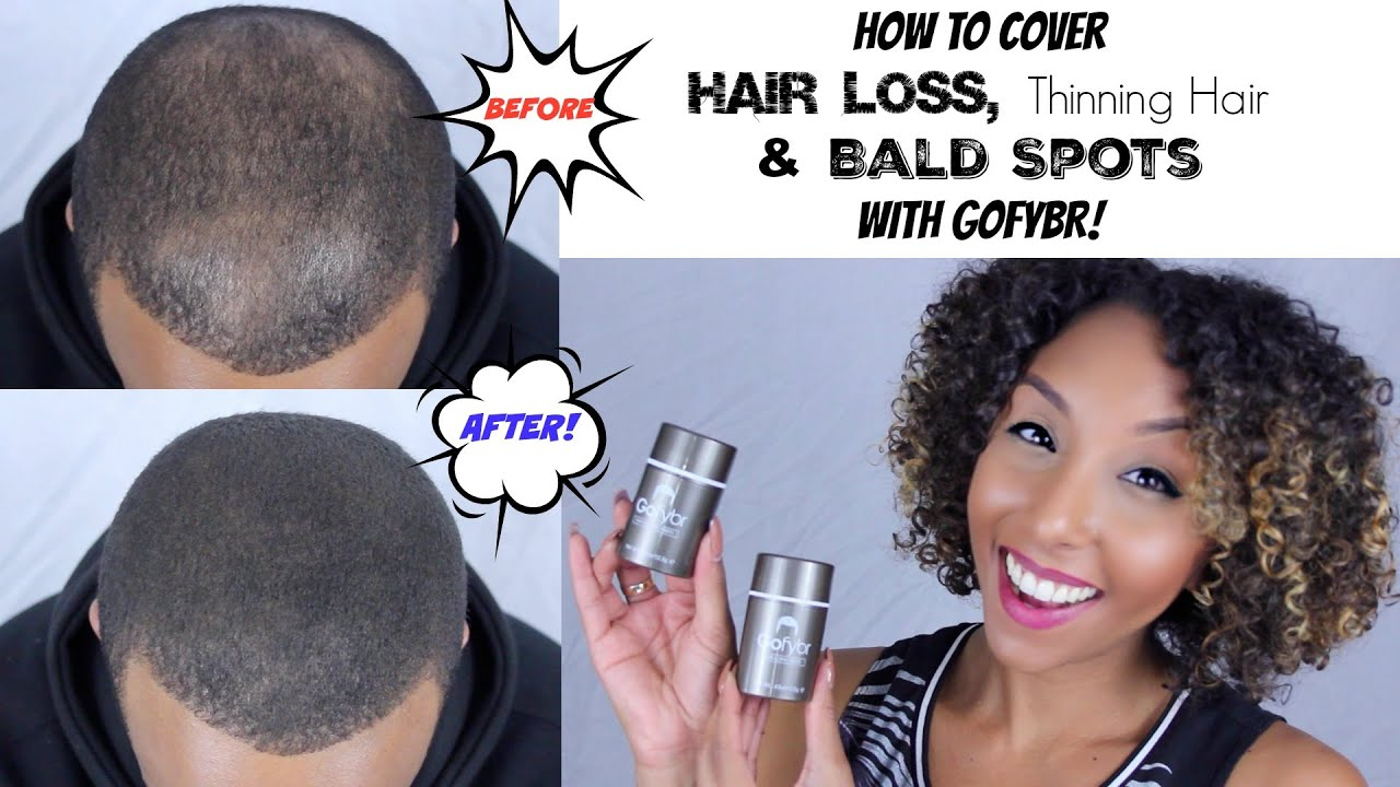 How to Cover Up Hair Loss Thinning Hair and Bald Spots w GoFYBR