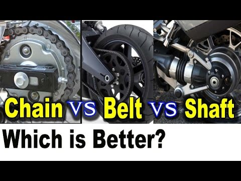 Motorcycle Chain Vs Belt Vs Shaft Drive Pros Cons Which