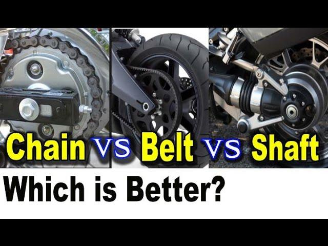Motorcycle Chain Vs Belt Shaft Drive