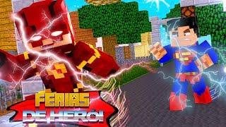 Minecraft : FÉRIAS DE HERÓI - THE FLASH VS SUPER HOMEM - QUEM É MAIS RÁPIDO? #9