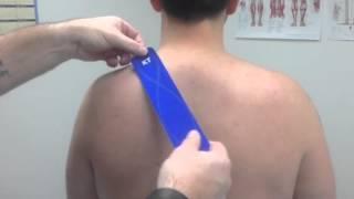 KT TAPE Neck (Levator scapulae) pain
