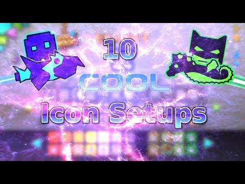 10 Cool Geometry Dash Icon Setups! ~ Geometry Dash