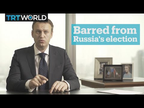 Russian opposition politician Alexei Navalny barred from presidential election