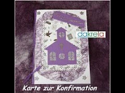 Karte Zur Konfirmation Kommunion Taufe Basteln Tutorial Deutsch