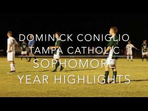 Dominick Coniglio Sophomore Tampa Catholic High School Varsity Soccer