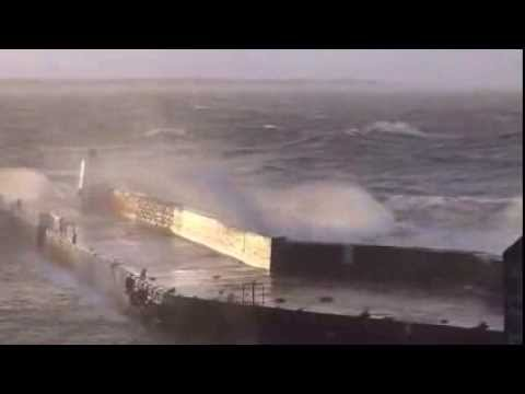 BURGHEAD, MORAY. SCOTLAND STORM 05 12 13