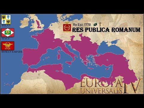 EU4 Timelapse | Milan - Italy - Roman Empire | Quick Playthrough